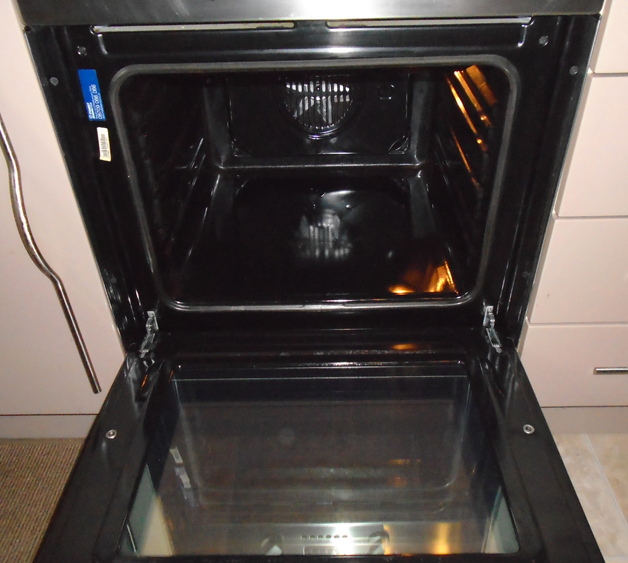 Professionally cleaned oven