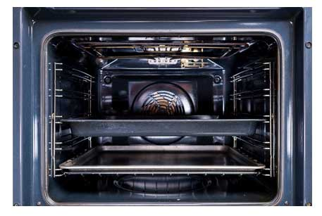 professionally cleaned oven with door seal